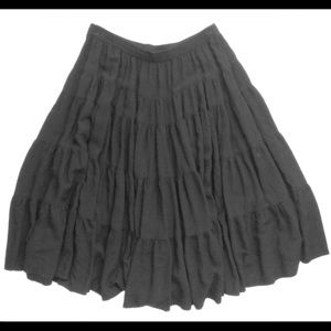 H&M Black Boho Skirt